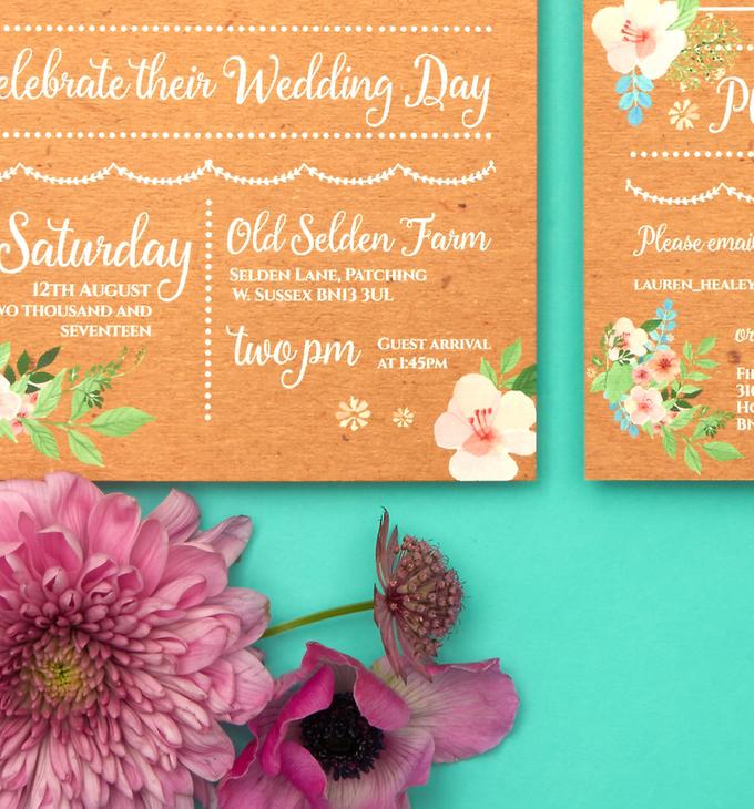 Bespoke designs by Vicky Perry Wedding Stationery - 003