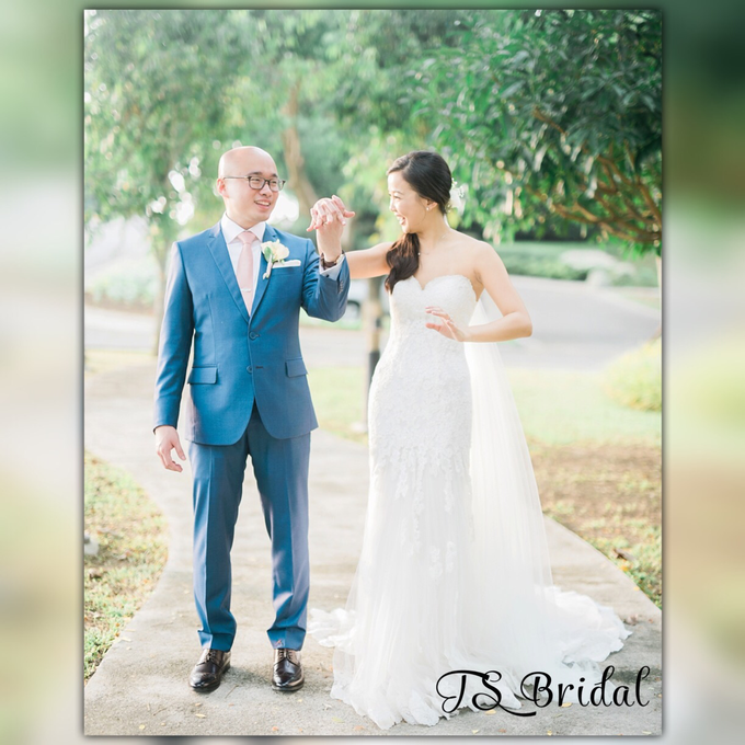 SIMPLE WEDDING DRESS TAIL BISA DI LEPAS by TS BRIDAL BALI - 014