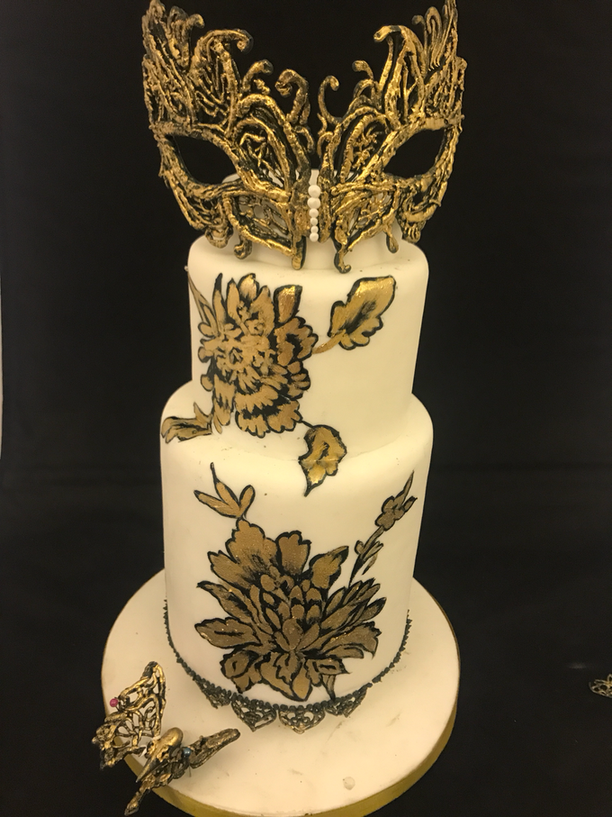 Masquerade cake  by Nurture Cakes -Gourmet Cakes with Egg and Eggless - 001
