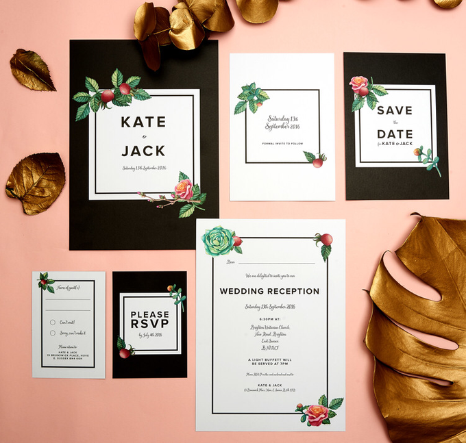 Midnight template design by Vicky Perry Wedding Stationery - 004