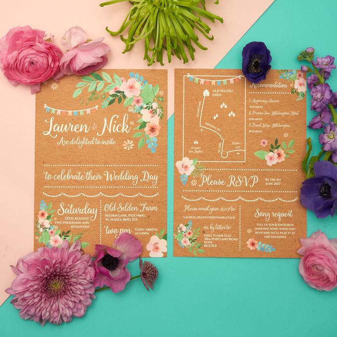 Bespoke designs by Vicky Perry Wedding Stationery - 001