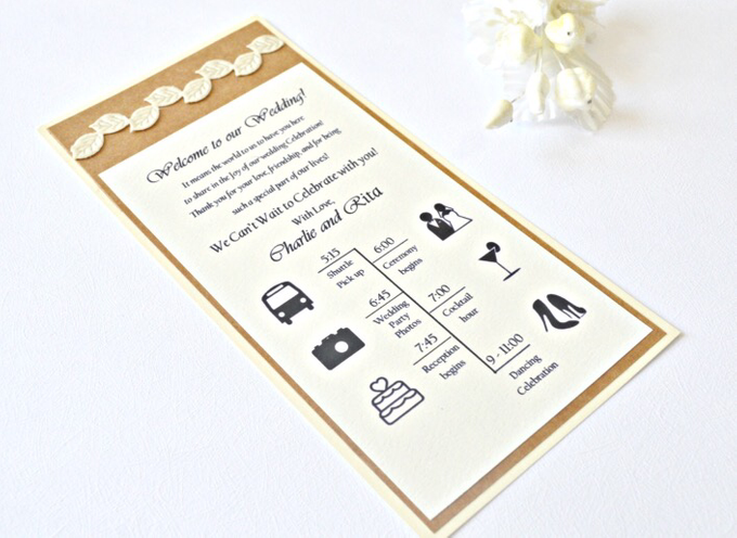 Fall wedding stationary  by Jasmine wedding prints - 005