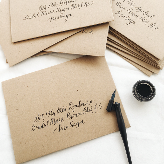 Envelope Addressing by Meilifluous Calligraphy & Design - 001