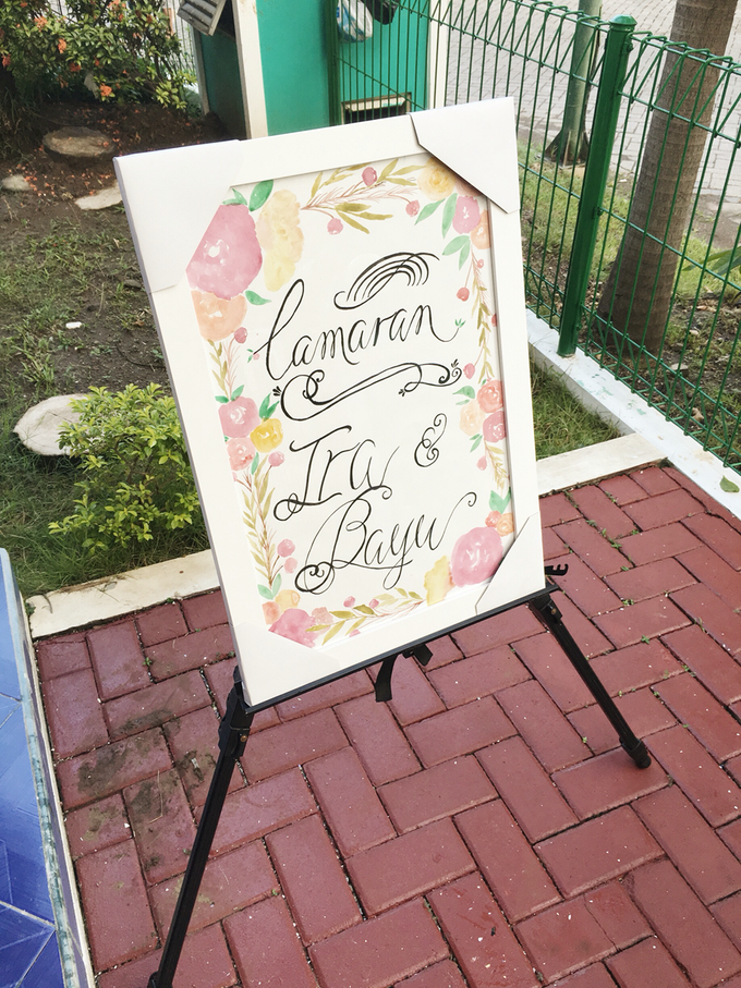 Bespoke Board Sign for Engagement by Meilifluous Calligraphy & Design - 003