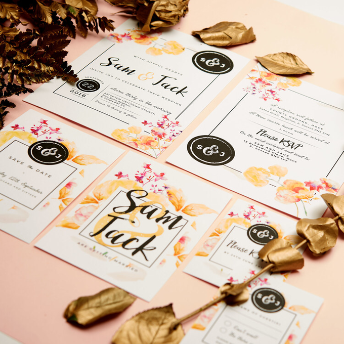 Vintage Floral template design by Vicky Perry Wedding Stationery - 001