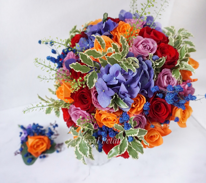 Candy crush wedding bouquet by Royal Petals - 002