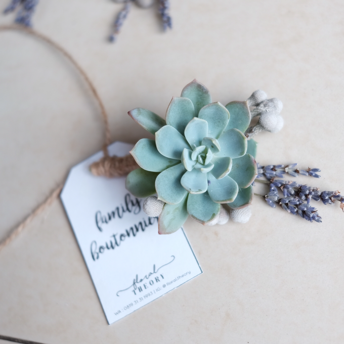 Rustic Succulent Boutonniere by Floral Theory - 003