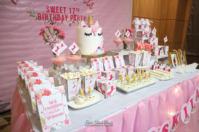 Unicorn Dessert Table By We Think Party Bridestorycom