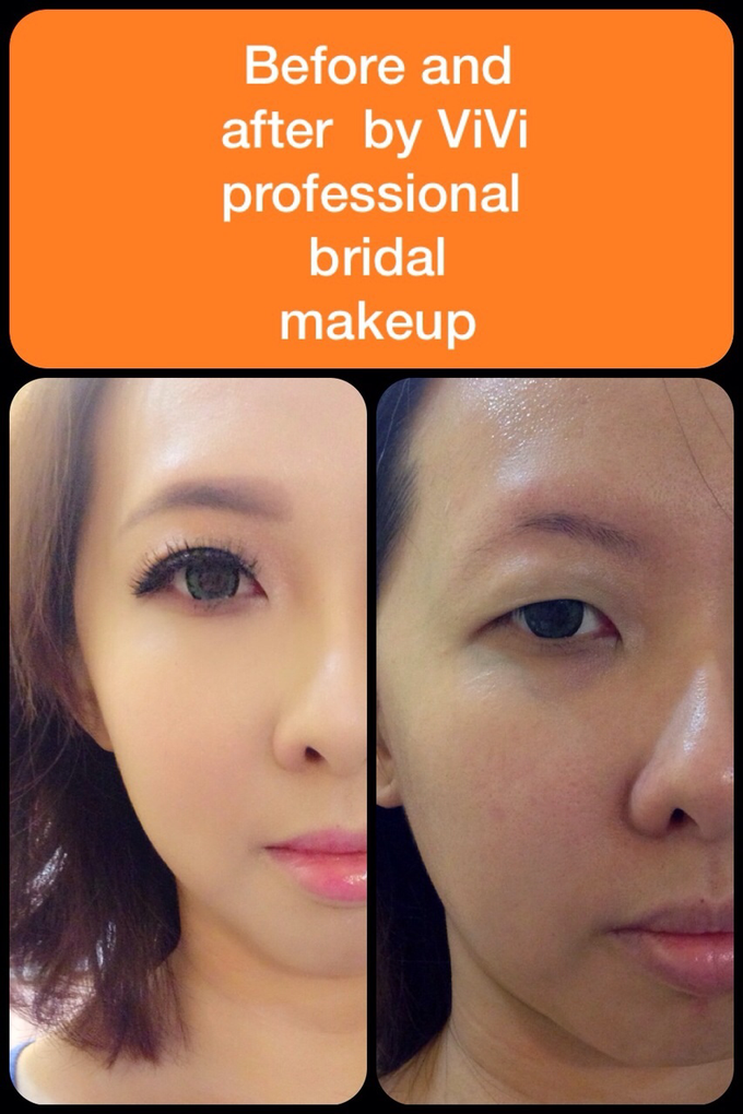 Bridal makeup and hairstyling  Actual day  by VIVI PROFESSIONAL BRIDAL MAKEUP - 006