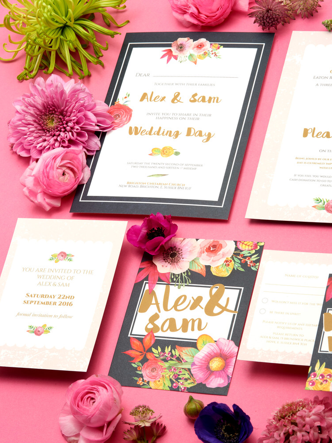 Blooms template design by Vicky Perry Wedding Stationery - 009