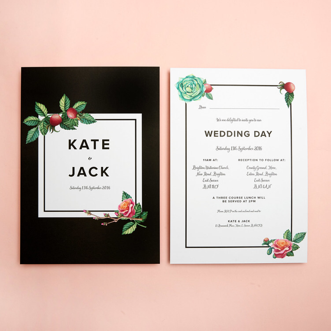 Midnight template design by Vicky Perry Wedding Stationery - 001