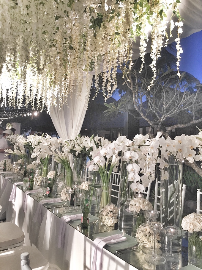 White wedding in starry light by Bali Signature - 002