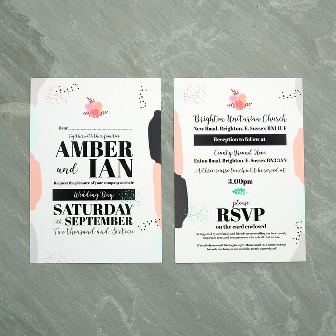 Spring template design by Vicky Perry Wedding Stationery - 001