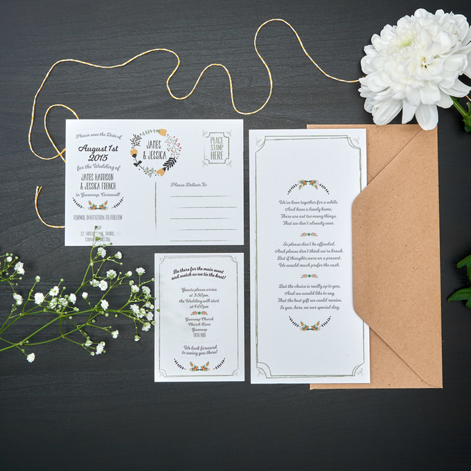 Bespoke designs by Vicky Perry Wedding Stationery - 007
