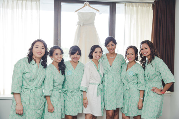 Bridesmaids Robes by Modern Kimono - 009