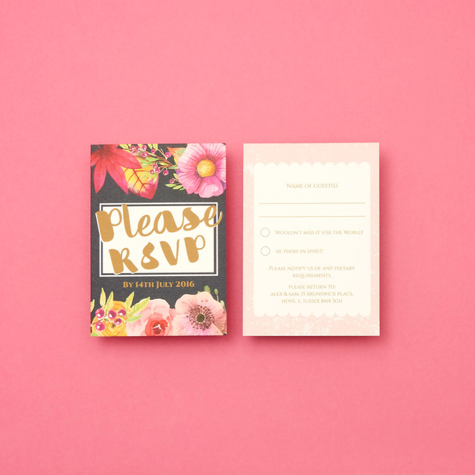 Blooms template design by Vicky Perry Wedding Stationery - 005