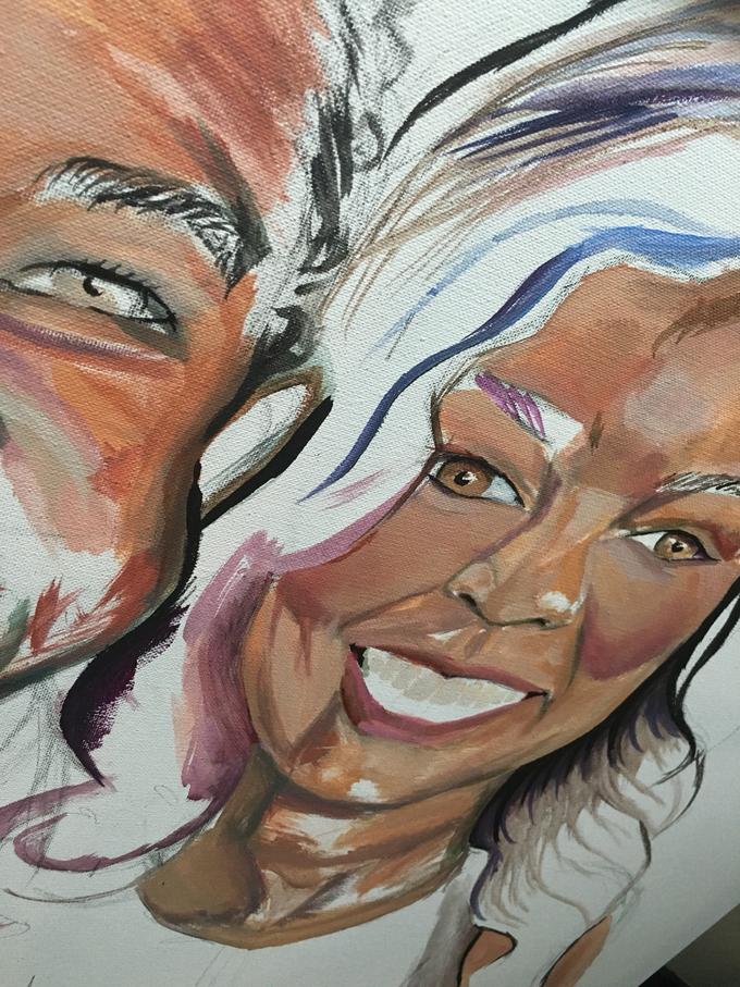 Custom Couple Art by Amber R Taylor Live Art - 006
