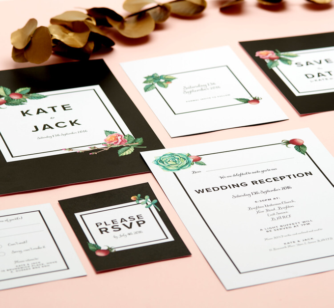 Midnight template design by Vicky Perry Wedding Stationery - 007