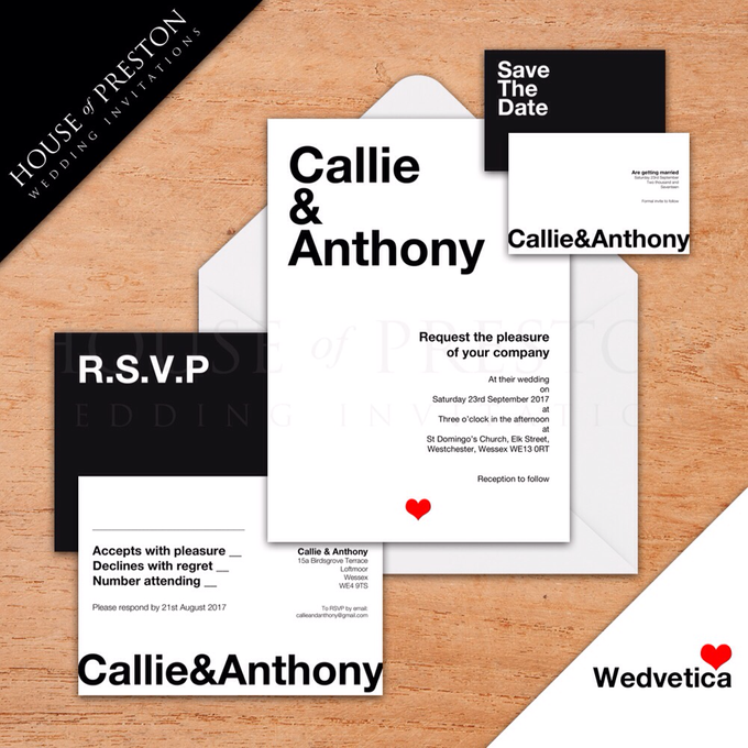 Wedding Invitations by House Of Preston - 001
