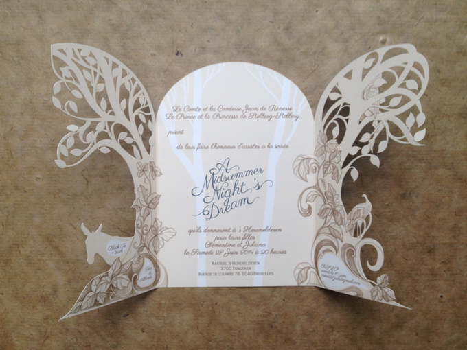 Customised Laser cut Wedding invitation by The Event Artisan - 007
