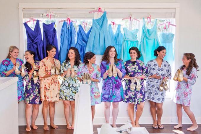 Bridesmaids Robes by Modern Kimono - 012