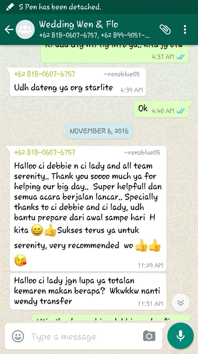 Testimoni from our Lovely Groom n Bride  by Serenity wedding organizer - 002