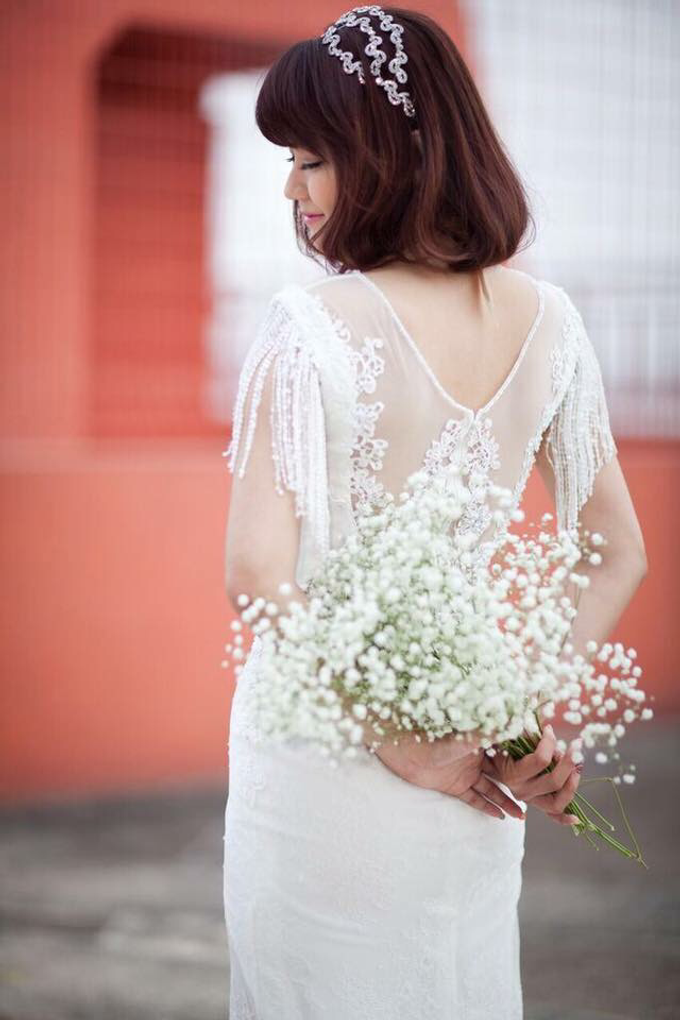 Mua:Hisa Gown :1728 wedding house Singapore  by Cocoon makeup and hair - 005