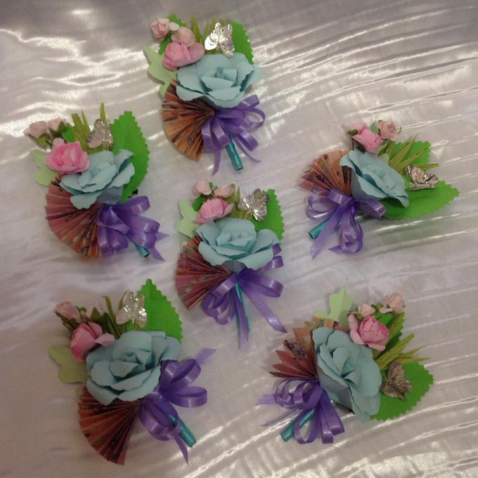 Pastel Handcrafted Entourage Bouquets by Duane's Fleur Creatif - 025