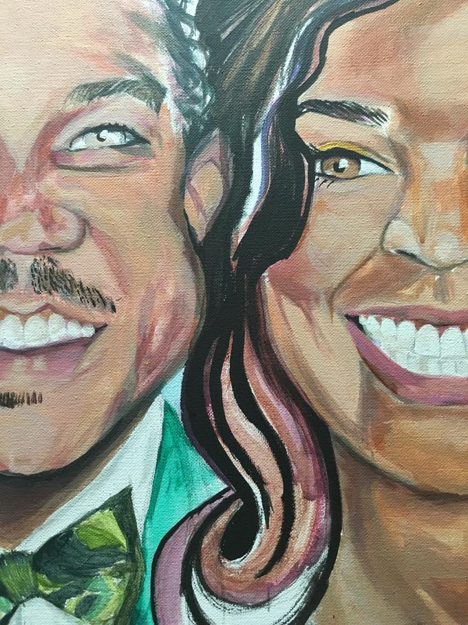 Custom Couple Art by Amber R Taylor Live Art - 003