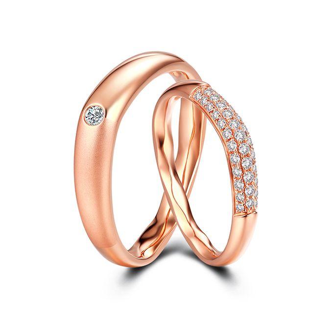 Tiaria FIRST LOVE Diamond Ring Perhiasan Cincin Pernikahan Emas dan Berlian by TIARIA - 001