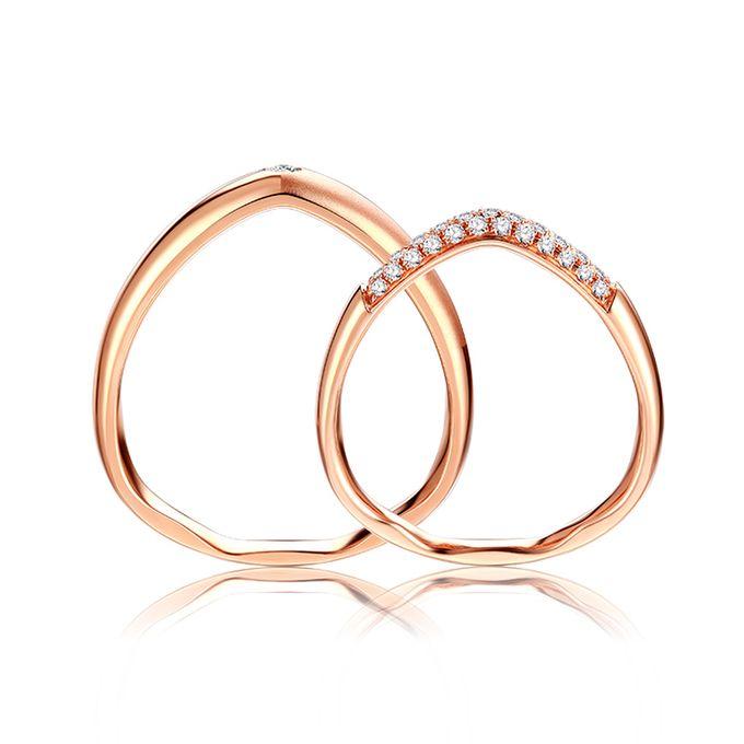Tiaria FIRST LOVE Diamond Ring Perhiasan Cincin Pernikahan Emas dan Berlian by TIARIA - 002