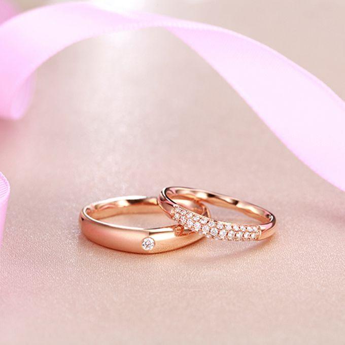 Tiaria FIRST LOVE Diamond Ring Perhiasan Cincin Pernikahan Emas dan Berlian by TIARIA - 003