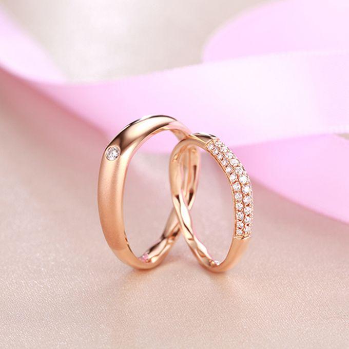 Tiaria FIRST LOVE Diamond Ring Perhiasan Cincin Pernikahan Emas dan Berlian by TIARIA - 004