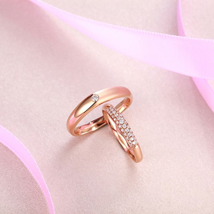Tiaria FIRST LOVE Diamond Ring Perhiasan Cincin Pernikahan Emas dan Berlian by TIARIA - 005
