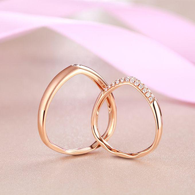 Tiaria FIRST LOVE Diamond Ring Perhiasan Cincin Pernikahan Emas dan Berlian by TIARIA - 006