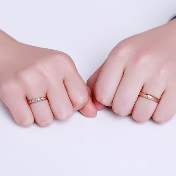 Tiaria FIRST LOVE Diamond Ring Perhiasan Cincin Pernikahan Emas dan Berlian by TIARIA - 007