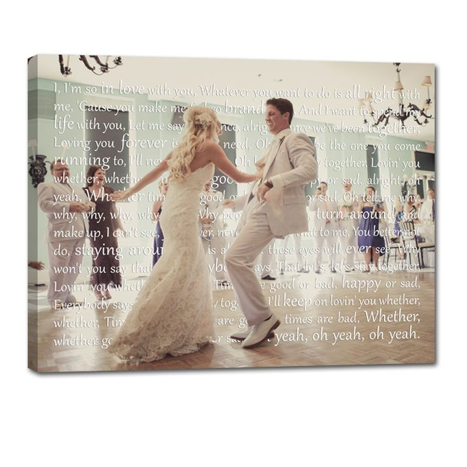 Wedding Photo First Dance Canvas Wedding Vow Art Gift for Husband by Geezees Custom Canvas - 004