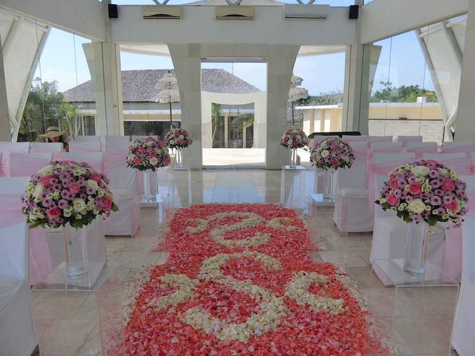 our chapel and water wedding decor by Jc Florist Bali - 020