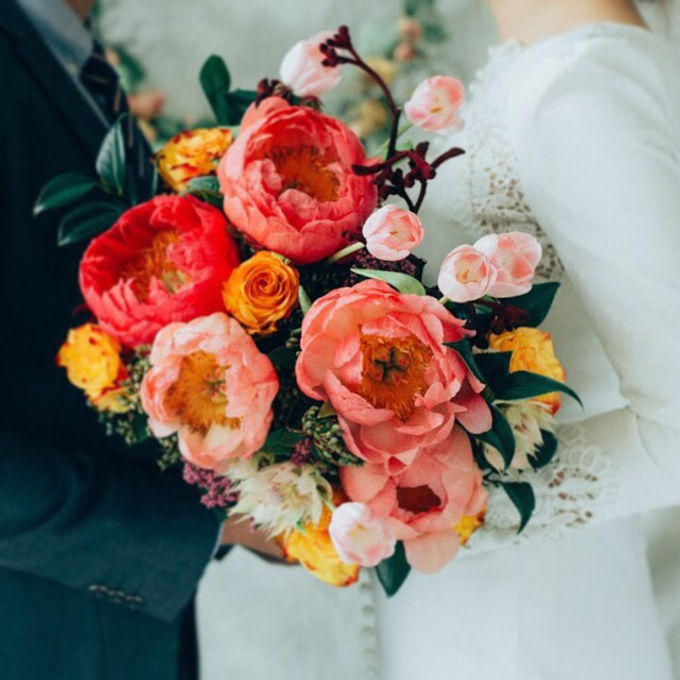 Coral Peony Bouquet  by Floral Paradise - 003