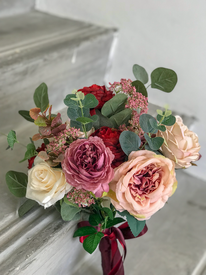 Eternity range - Faux bouquet in vintage hues  by Florals Actually - 002