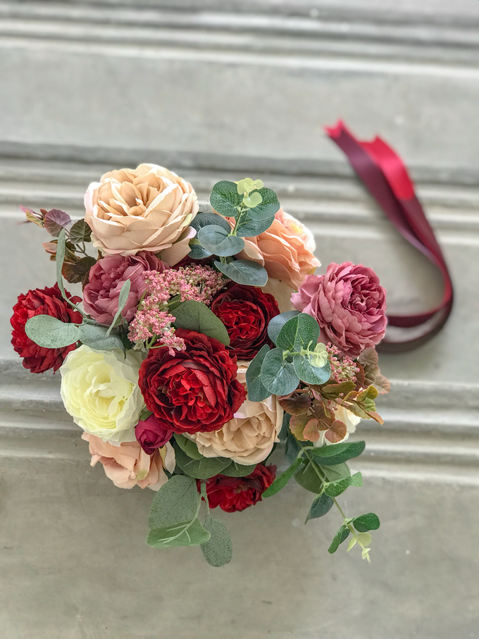 Eternity range - Faux bouquet in vintage hues  by Florals Actually - 003