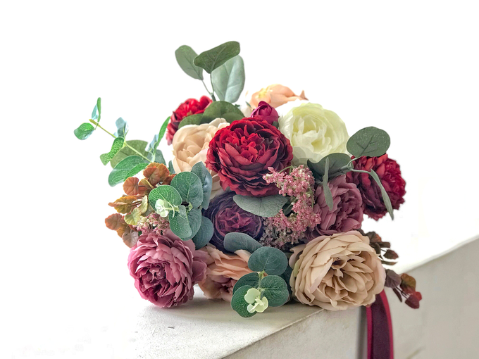 Eternity range - Faux bouquet in vintage hues  by Florals Actually - 001