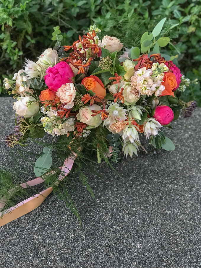 Coral and Peach for Bride J by Florals Actually - 002
