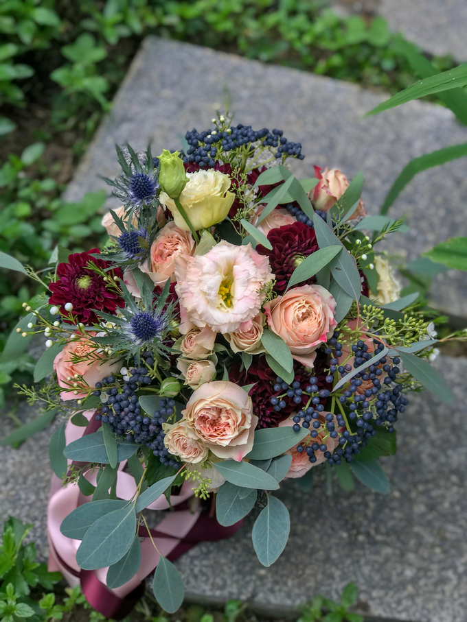 Roses and Dahlias for Bride H by Florals Actually - 001