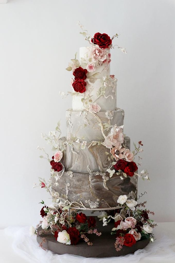 5 & 6 Tiers Wedding Cake by LeNovelle Cake - 013