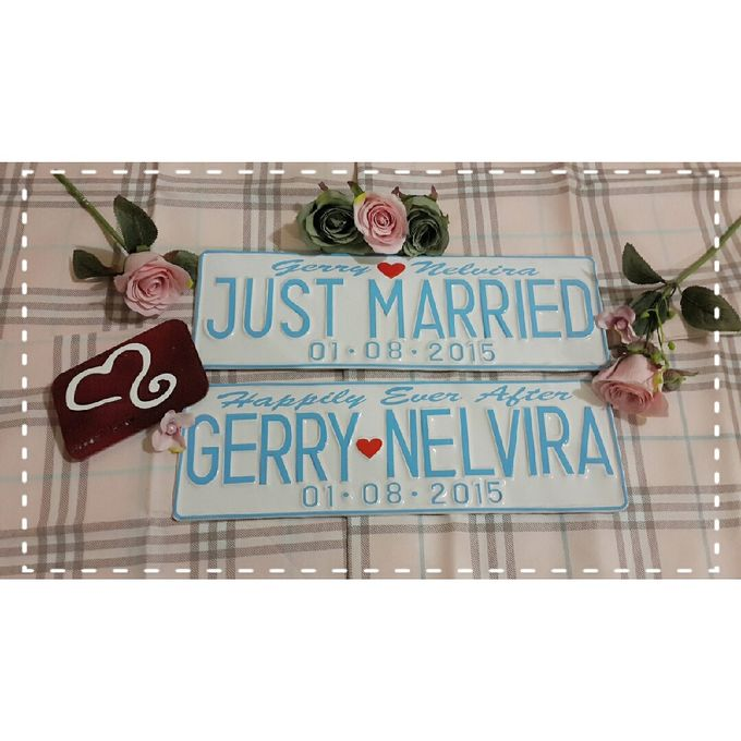 Wedding Car Plate by Sweetlovecollection - 039