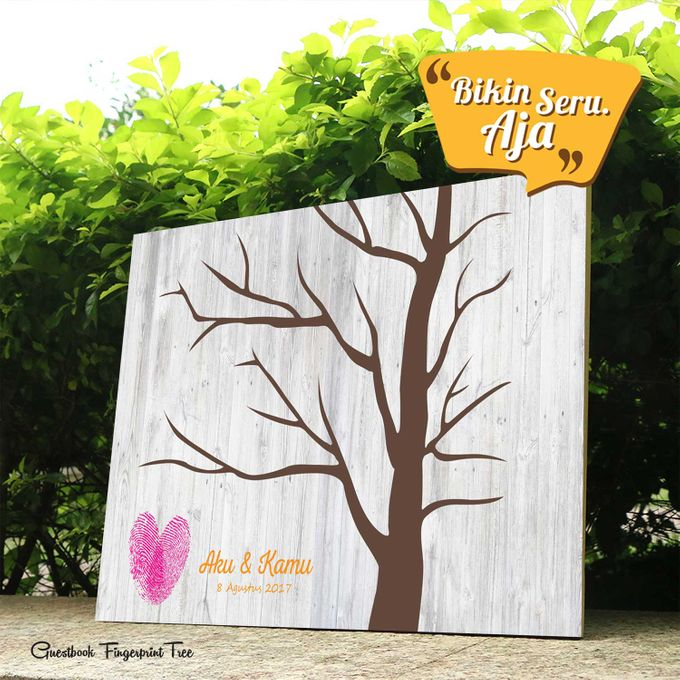 Canvas Guestbook Wedding Artwork - Fingerprint T3 by Bikinseru.aja - 011