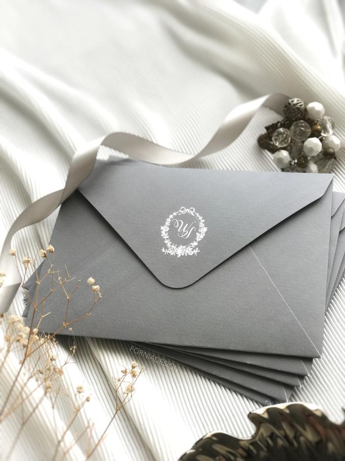 William & Meriani's letterpress wedding invitation  by Fornia Design Invitation - 002