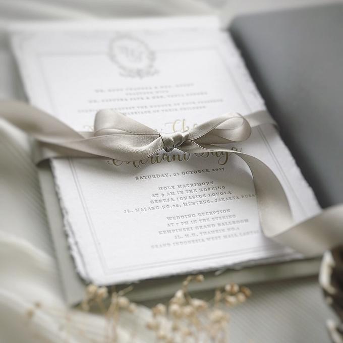 William & Meriani's letterpress wedding invitation  by Fornia Design Invitation - 003