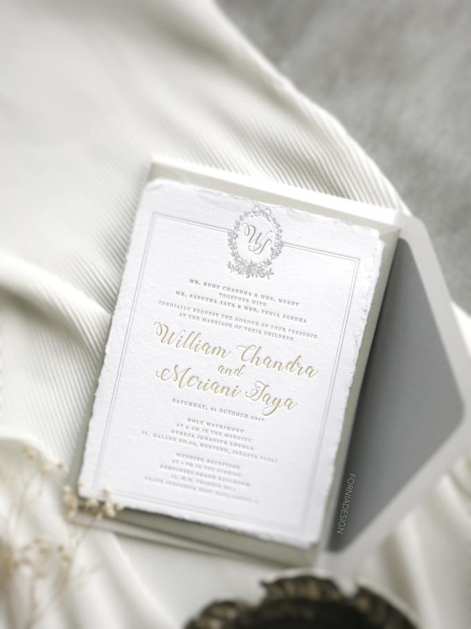 William & Meriani's letterpress wedding invitation  by Fornia Design Invitation - 004